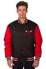 NBA Chicago Bull JH Design Poly Twill Logo Jacket Black Red