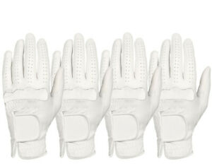 ++ New ++ (4)  All Weather Men's White Golf Glove