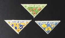 Herm Island 1954 3 stamps MLH