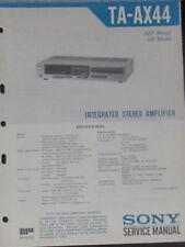 Sony TA-AX44 hifi amplifier service repair workshop manual (original copy)