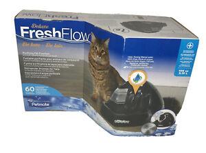 Petmate 108oz Fresh Flow Black Cat Dog Water Fountain Free Shipping!