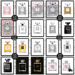 Beautiful Fashion Art Glamour perfume bottle wall art beauty girls bedroom print