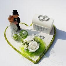 Geldgeschenk Hochzeit Herz grün weiß personalisiert Geld schenken