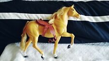 VINTAGE 1980~MATTEL~BARBIE Golden Palomino horse with SADDLE  preowned/used cond