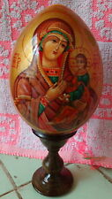 MOTHER OF GOD wood icon -egg handpainted LARGE #6