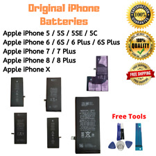 OEM Original Iphone 5 5S 5C 5SE 6 6S 7 8 Plus X Replacement Batteries All Models