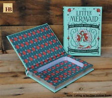 Hollow Book Safe - The Little Mermaid - Teal Leather Bound Book Safe