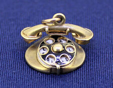 TELEPHONE PENDANT REAL SOLID 14 K GOLD 2.4 g