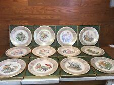 Lenox Boehm Birds Set of 12 Collector Plates Limited Ed 1970-1981 Boxed w/Coas