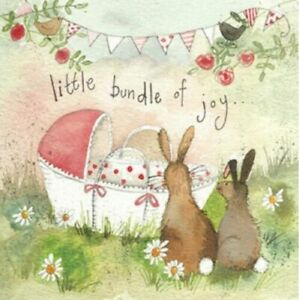 "Alex Clark 'BUNDLE OF JOY' - New Baby Card - 140mm x 140mm (5.5"" x 5.5"")"