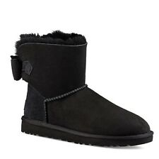 UGG Neveah Bow Black Women 7M NEW