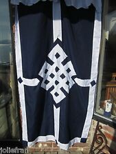TRADITIONAL TIBETAN BUDDHIST DOOR CURTAIN EMBROIDERED ENDLESS KNOT SYMBOL NEPAL