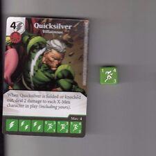 DICE MASTERS UNCANNY X-MEN UNCOMMON #84 QUICKSILVER VILLAINOUS CARD WITH DICE