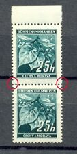 Böhmen & Mähren Nr.23** sekrechtes Paar mit breiten Zahn(B7)