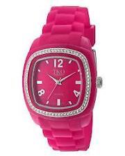 TKO Tivoli Rubber PINK Watch (with Genuine Swarovski Crystals)