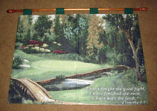 Valley Green ~  Golf Course Tapestry Wall Hanging w/Inspirational Verse