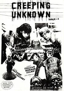 Creeping Unknown Horror Fanzine Fourth Issue 4 May 1988