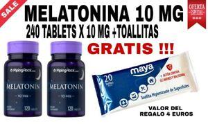 MELATONINA 10 mg -  ALTA POTENCIA - ALTA CALIDAD - ALTA QUALITÁ - PACK X2