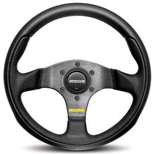 MOMO Team 300 Steering Wheel Black Leather Airleather 300mm Genuine TEA30BK0B