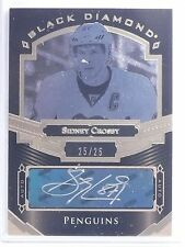 2016-17 UD Black Diamond Pure Black Sidney Crosby Autograph auto #D25/25 *65133