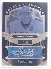2016-17 UD Black Diamond Pure Black Sidney Crosby Autograph auto #D25/25 *65133