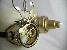 Pro Steampunk Safety Goggles Clockwork Brass Watch Parts Gears Top Hat & Cosplay
