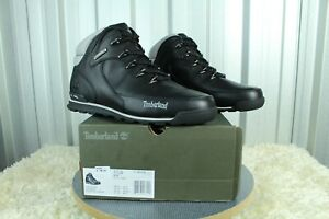 NEW TIMBERLAND EURO ROCK HIKER MEN'S IN BLACK LEATHER BOOTS SIZE UK 9.5 RRP £135