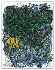 Original Justin Aerni DRAWING on paper outsider art measuring 8.5 x 11 - SIGNED