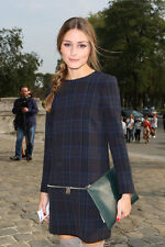 ZARA TARTAN PLAID ZIPS OLIVIA PALERMO BLOGGERS DRESS SIZE S SMALL UK 8