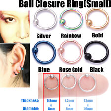 Surgical Steel Helix Tragus Daith Stud Ring Nose Ring Stud Belly Bar Piercing