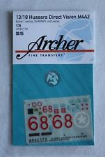 "Archer 1/35 13/18 Hussars ""Charmer"" Direct Vision M4A2 Sherman AR35173"