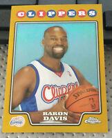 2008-09 Topps Chrome Baron Davis GOLD Refractor #34/50