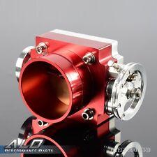 CNC 80mm Throttle Body Performance Intake Manifold Billet Aluminum High Flow Red