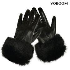 100% Schafspelz Handschuhe Schwarz Damen Leder Handschuhe Winter Winddicht GB02