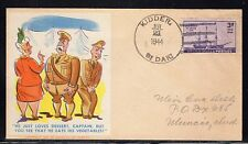 US WW2 Patriotic American Art Service Comic Cachet Kidder SD 1944 a999