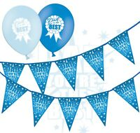 """Fathers Day Bunting You Are Best & 12"""" Blue Asst Balloons - Badge - pack of 5"""