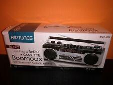 Impecca Riptunes Retro Cassette Radio USB/SD Bluetooth RACR400S Open Box, Works