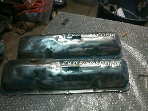 """Ford  """"Powered By Ford"""" Valve Covers date stamp is 5-26-D2 (72)"""