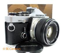 OLYMPUS OM-2N 35MM SLR CAMERA + OLYMPUS OM ZUIKO 50MM F1.8 LENS MINT