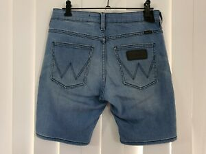Wrangler Cigarette Men's Blue Denim Shorts Size 29