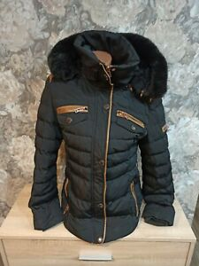Cipo&Baxx womens winter jacket size L black Color hooded