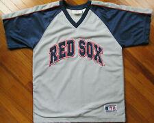 Boston Red Sox MLB Youth Size Medium 10-12 Gray/Blue Sewn Jersey Baseball