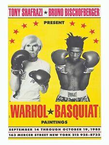 Jean Michel Basquiat Andy Warhol Print - Fine Art Print On Premium Luster