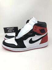 Nike Air Jordan One 1 Satin Black Toe Womens Size 12 Men 10.5 High CD0461016 New