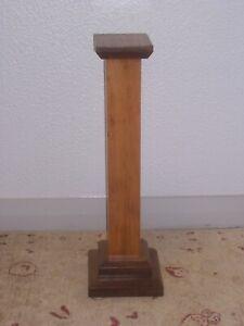 Vintage Mahogany Pedestal Plant Stand Column display podium 1920/30s 99p no res