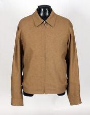 ERMENEGILDO ZEGNA  CASHMERE / SILK Coat Jacket - Tan - L / XL
