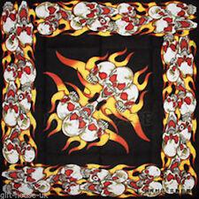 Yellow Fire-Skulls Bandana Headwear Bandanna Bands Scarf Wrist Wrap Headtie#2