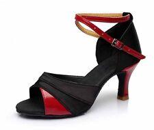 Women Girl lady's Ballroom Tango Latin Dance Shoes heeled Salsa professional