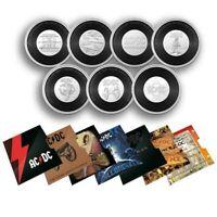 2020 AC/DC Seven Coin Collection 2020/2021 20c Coloured Uncirculated Coins BOX