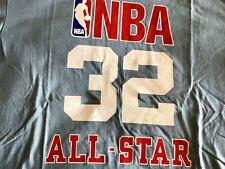 Magic Johnson All-Star West Adidas NBA Men's Size XL Blue T-Shirt